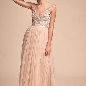 BHLDN Avery Dress in Oyster Sz 0